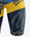 Men's Cycling Bib Shorts Mockup (Front View)