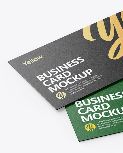 Textured Business Cards Mockup