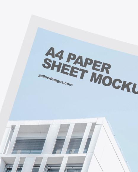 Paper Sheet Mockup