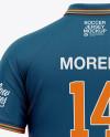 Men's Soccer Jersey Mockup - Back View