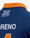Men's Soccer Jersey Mockup - Back Half Side View