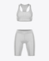Women's Fitness Kit Mockup - Front View