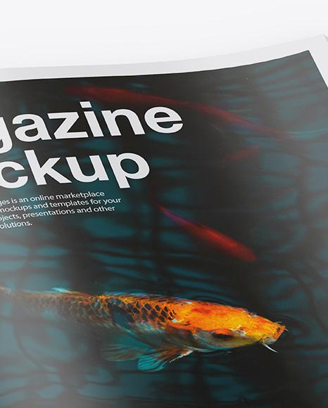 Glossy A4 Magazine Mockup