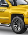 Full-Size Pickup Truck Mockup - Half Side View