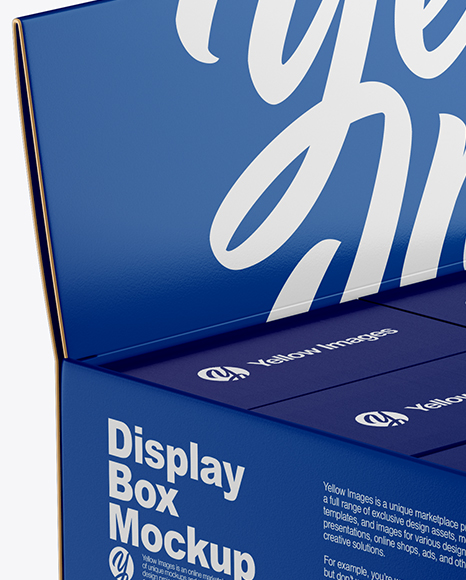 Display Box w/ Small Boxes Mockup