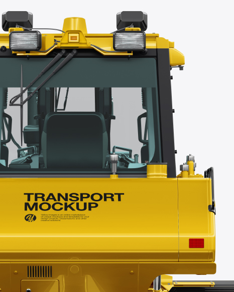 Crawler Dozer Mockup - Back View