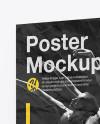 Crumpled Poster Mockup