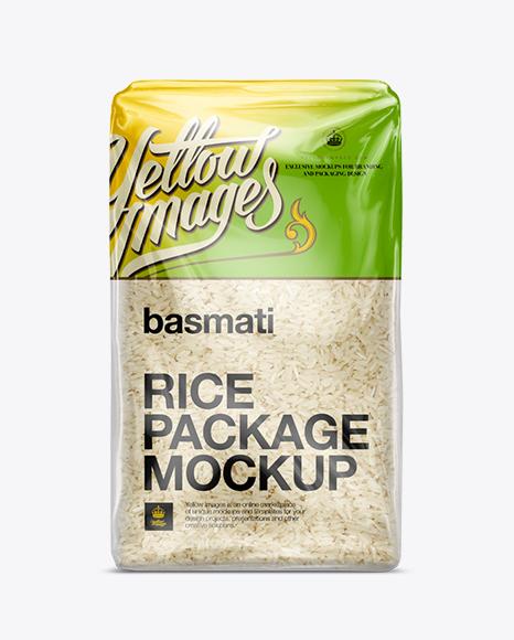 Free Psd Mockup Basmati Rice Package Mockup Object Mockups Paper