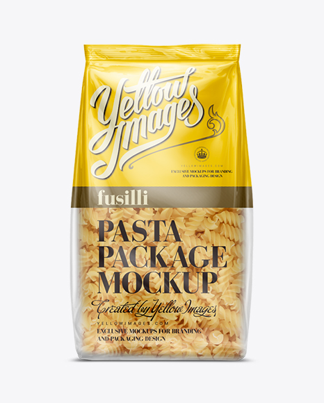 Download Fusilli Pasta Bag Mockup Object Mockups