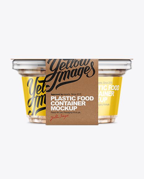 Download 200g Plastic Cup in Kraft Wrap W/ Peanuts Mockup Object Mockups