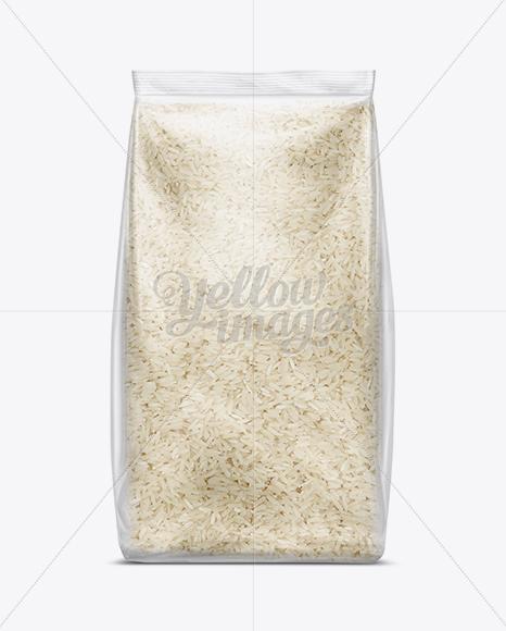 Bag W/ Basmati Rice Mockup