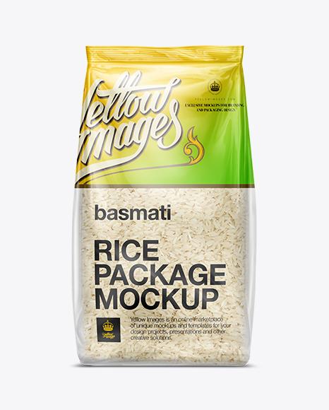 Bag W Basmati Rice Mockup Download All Free Mockup