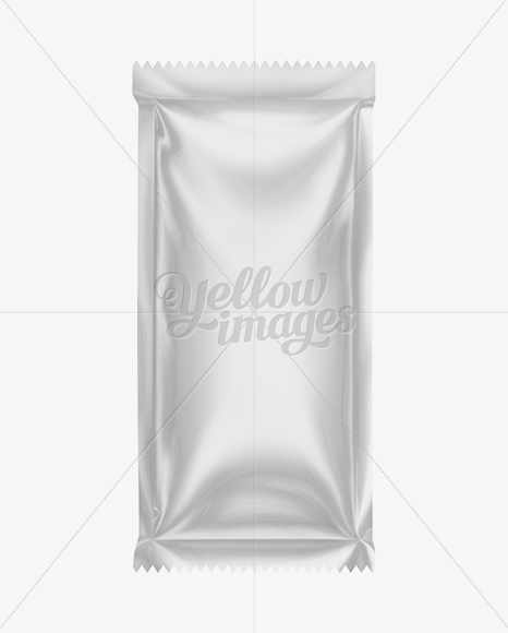 Plastic Sauce Bag Mockup In Flow-Pack Mockups On Yellow