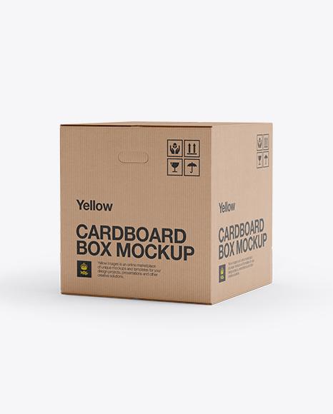 Cake Box Packaging Mockup Free Download