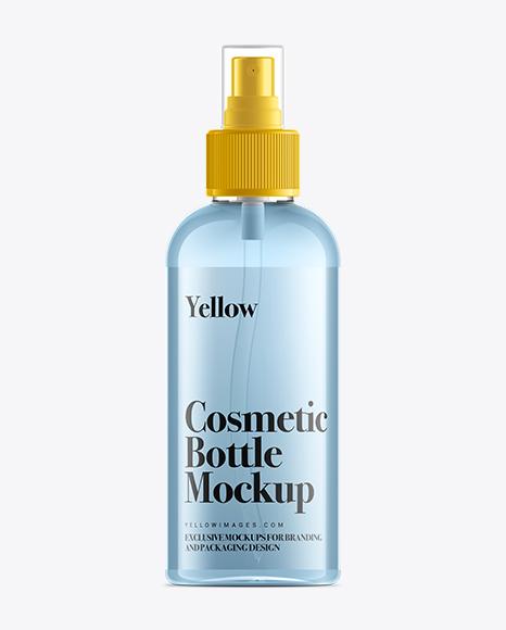 Download 100ml Clear Plastic Spray Bottle Mock-Up Object Mockups